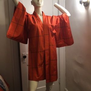 Vintage Japanese bright orange hoard jacket